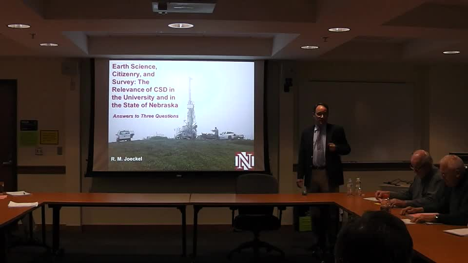 Earth Science, Citizenry, and Survey: The Relevance of CSD in the University and in the State of Nebraska