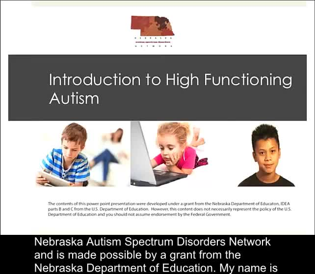 Introduction to High Functioning Autism