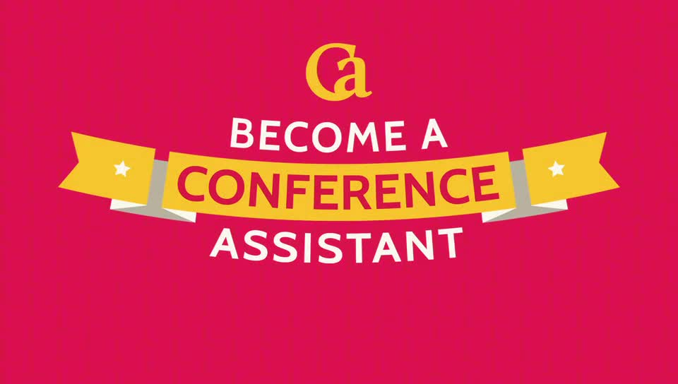 Become a Conference Assistant (best summer job EVER!)