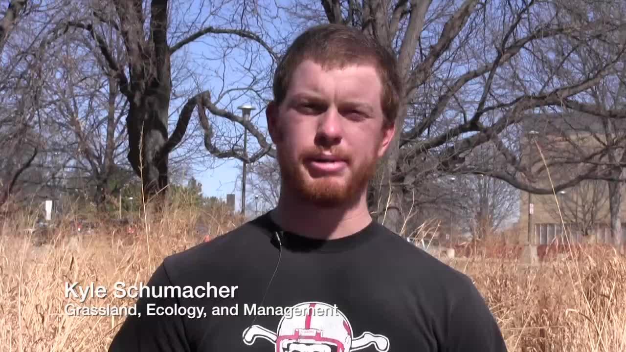 Kyle Schumacher - Grassland, Ecology and Management major