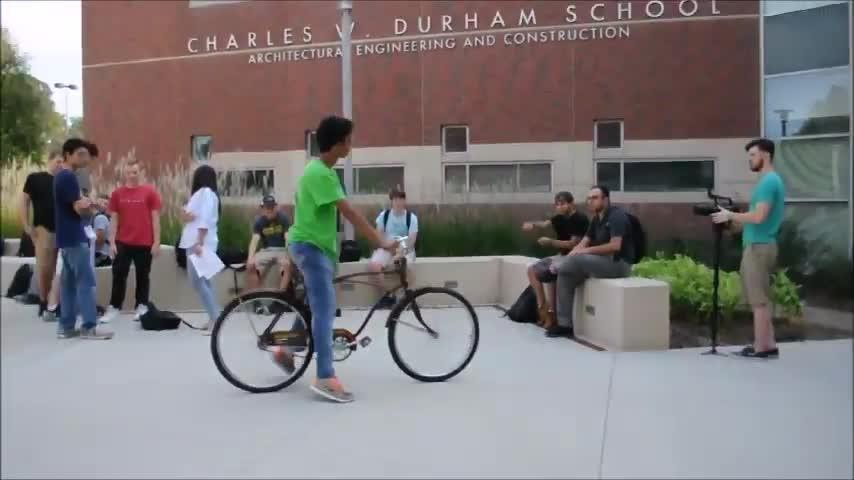 Reverse Operating Bike