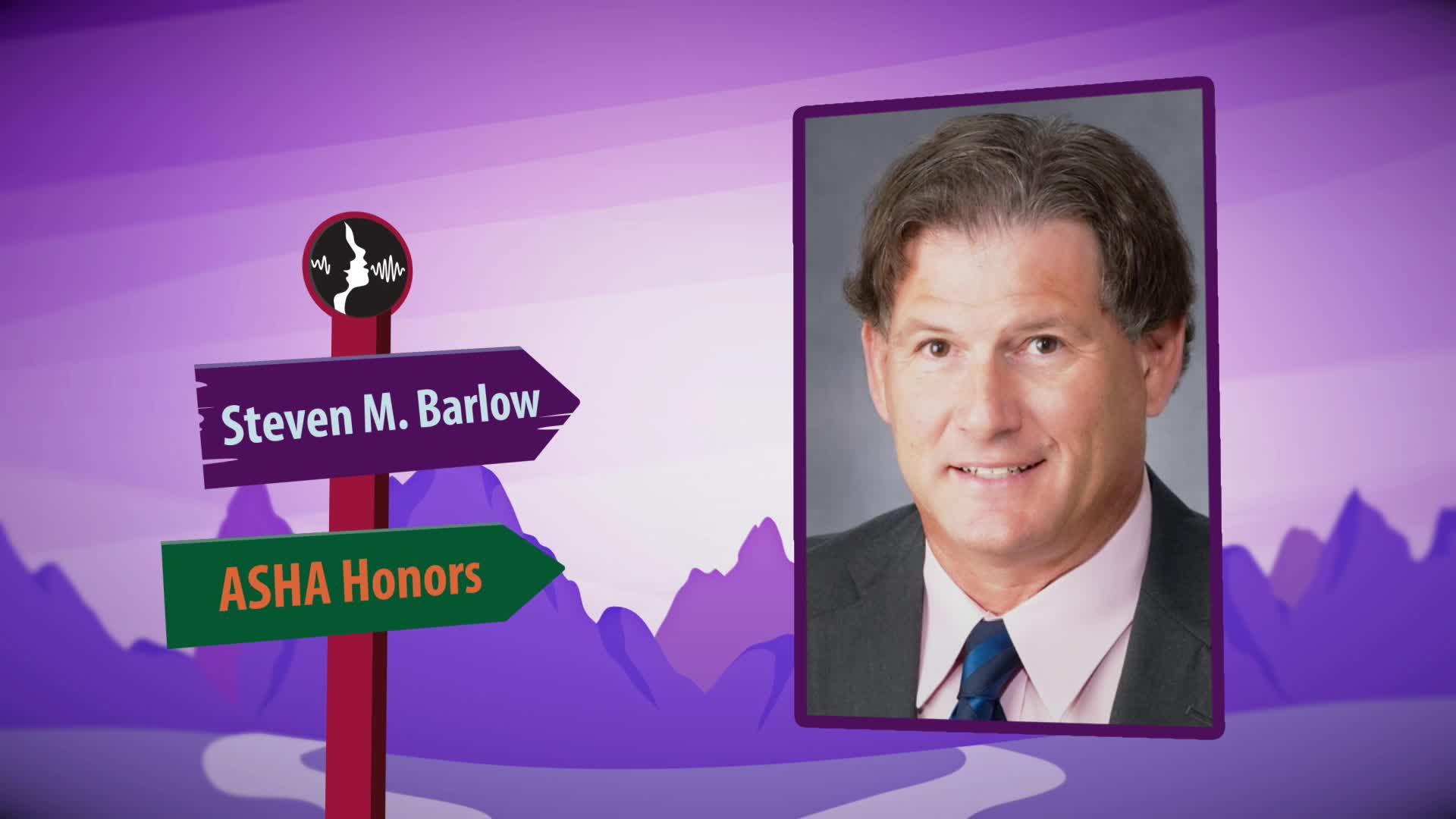 Steven Barlow honored by ASHA