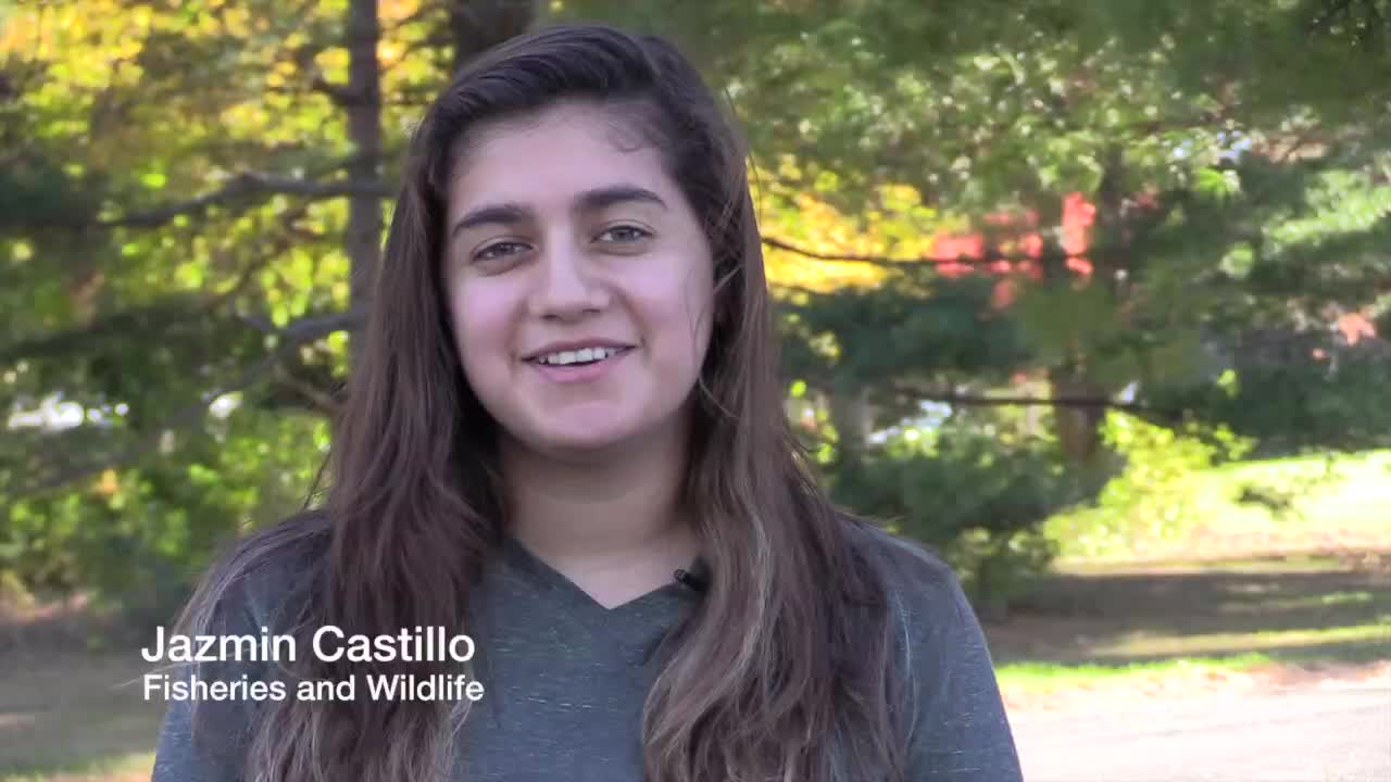 Jazmin Castillo, Fisheries and Wildlife Undergraduate Major
