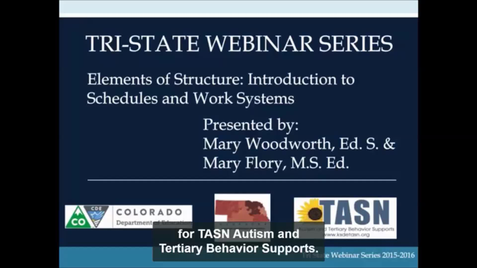 Elements of Structure: Assessing Student Schedules and Structured Work Systems
