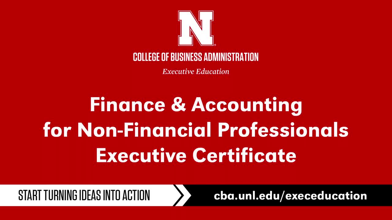 Finance & Accounting for Non-Financial Professionals Exec. Certificate Program
