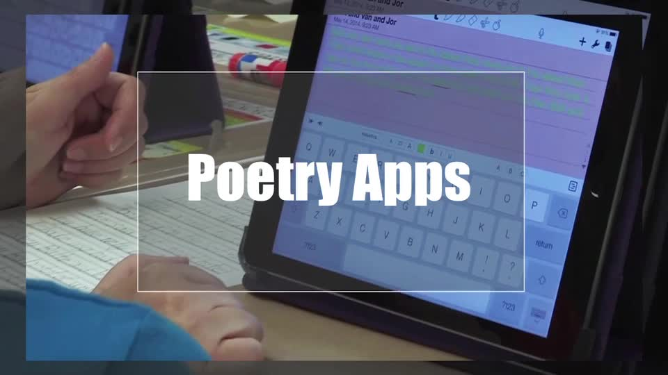 Tech Edge, Mobile Learning In The Classroom - Episode 08, Poetry Apps