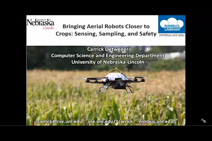 Bringing aerial robots closer to crops: Sensing, sampling, and safety