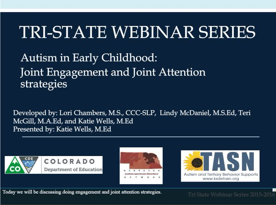 Autism in Early Childhood: Joint Engagement and Joint Attention strategies