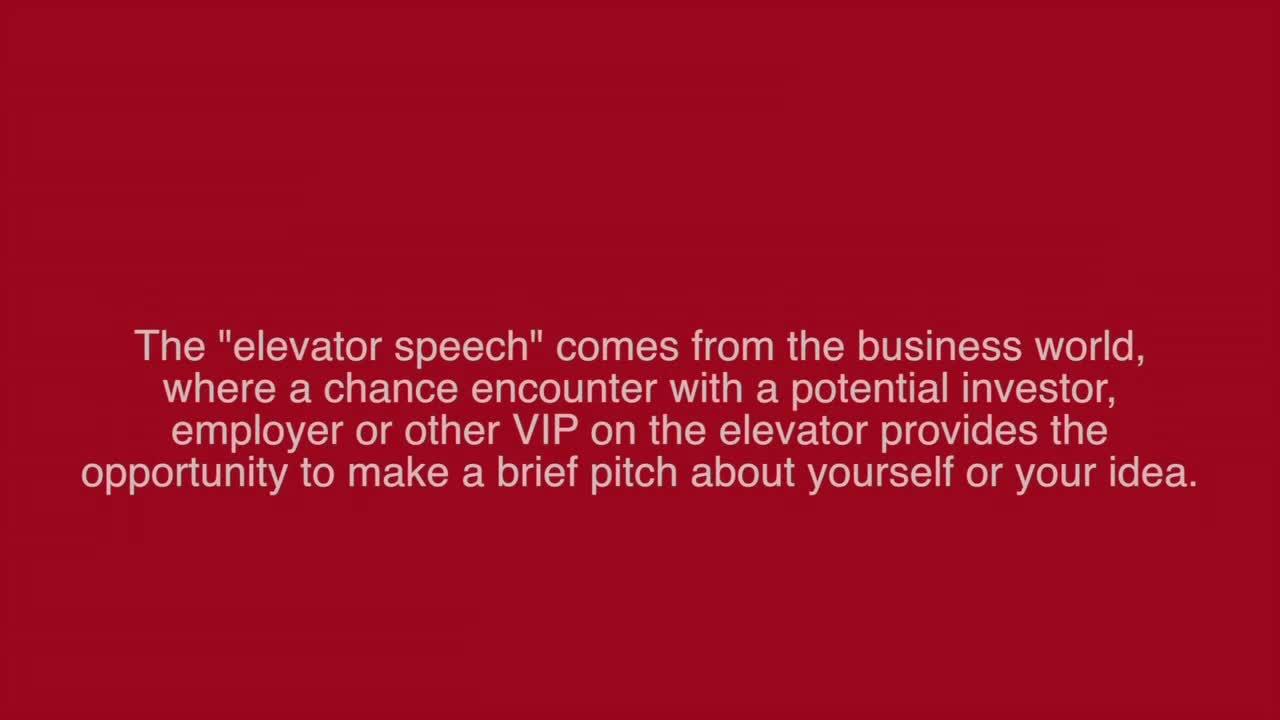 School of Natural Resources Elevator Speech Contest 2016