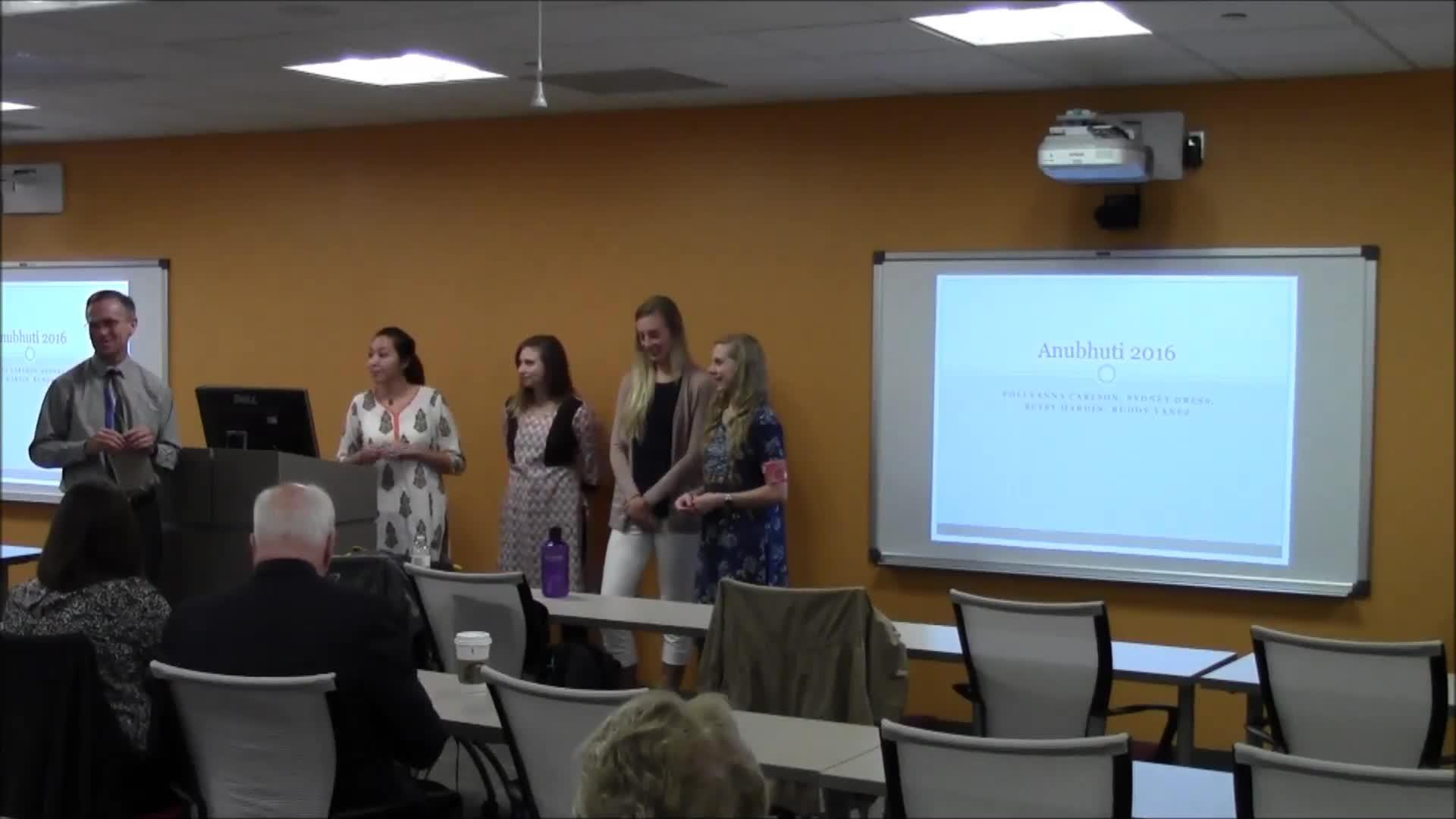 Anubhuti Student Presentation
