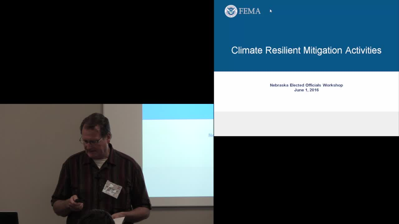 Nebraska Legislature - Special Committee - Climate Change Seminar - FEMA