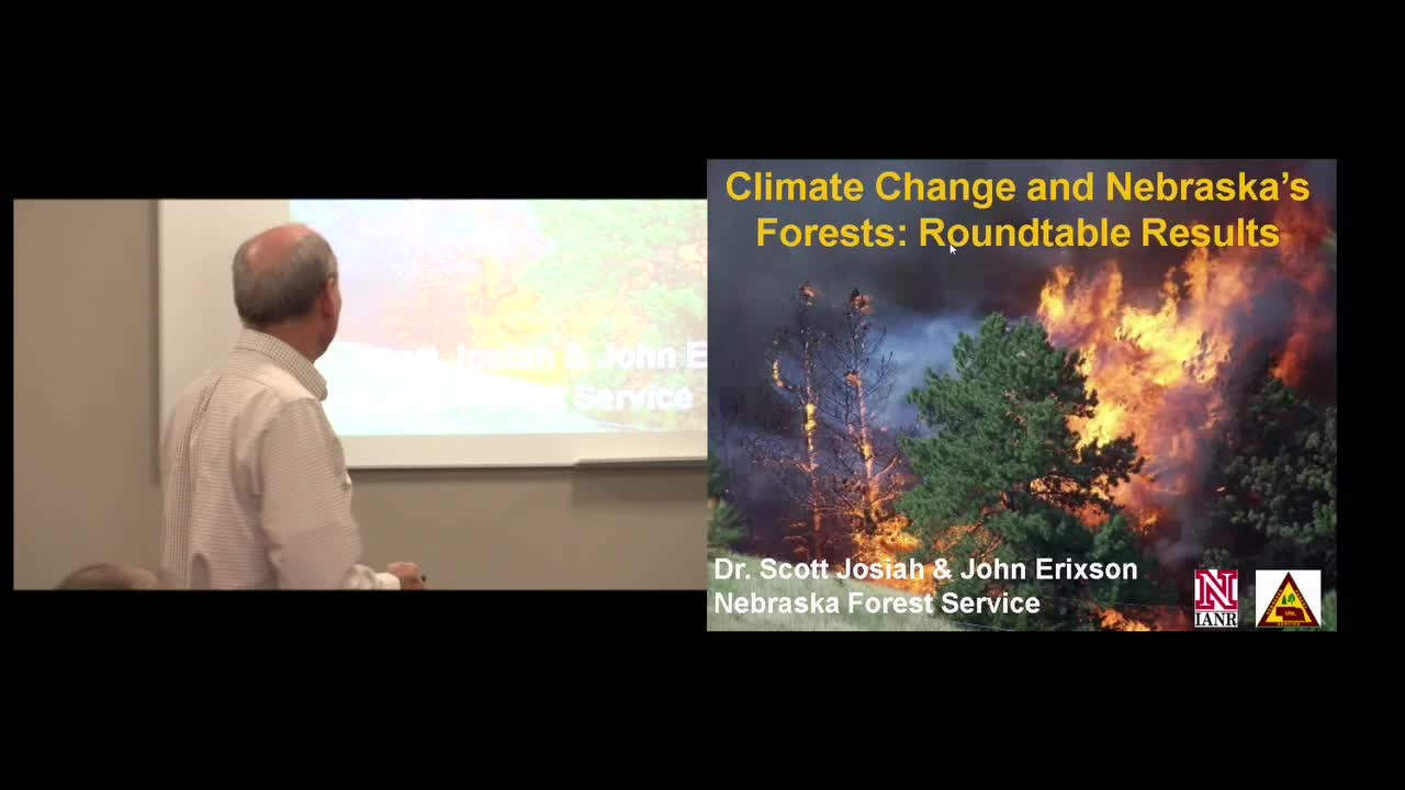 Nebraska Legislature - Special Committee - Climate Change Seminar - Forestry