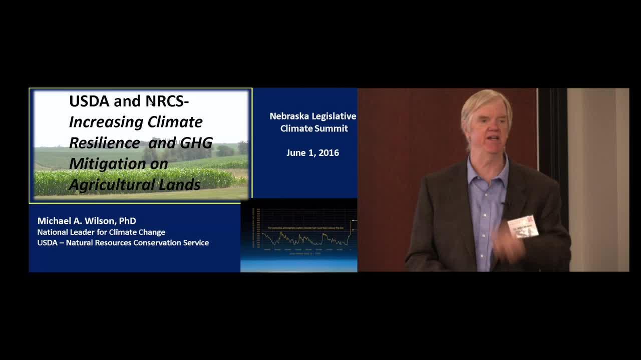 Nebraska Legislature - Special Committee - Climate Change Seminar - NRCS