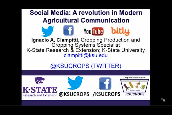 Social media: A revolution in modern agricultural communication