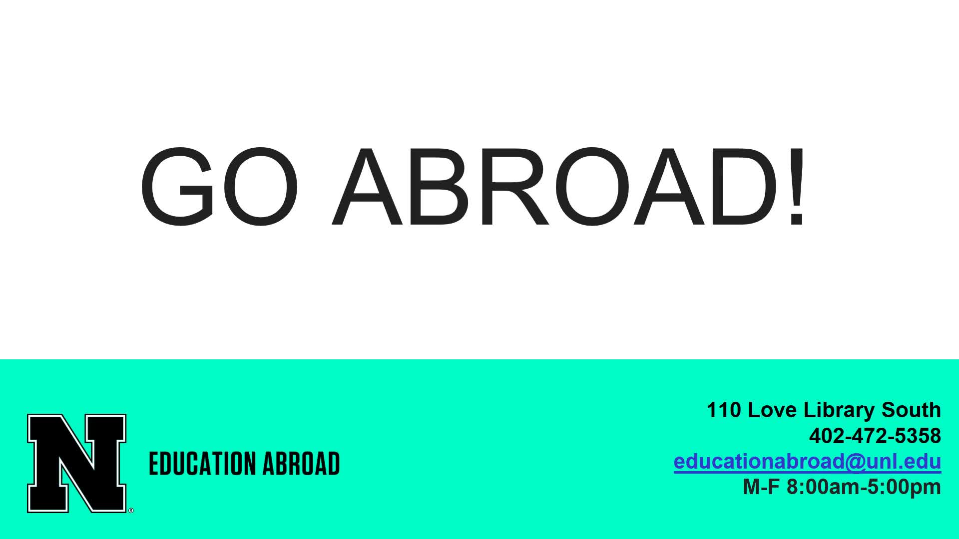 "Education Abroad ""Go Session"" Part 1"