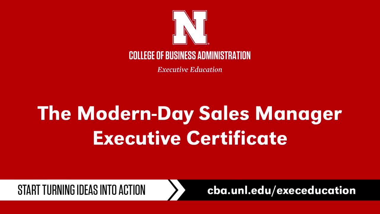Modern-Day Sales Manager Executive Certificate Program