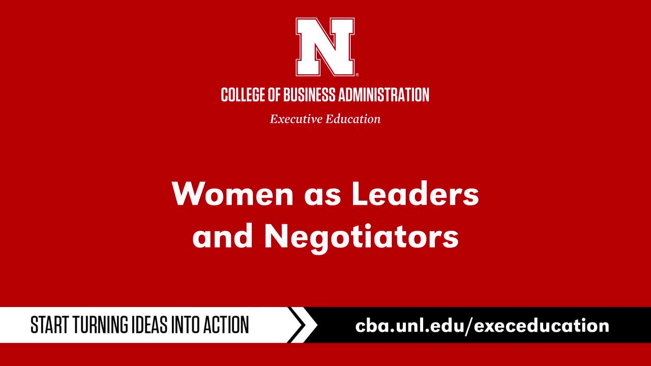 Women as Leaders and Negotiators Workshop