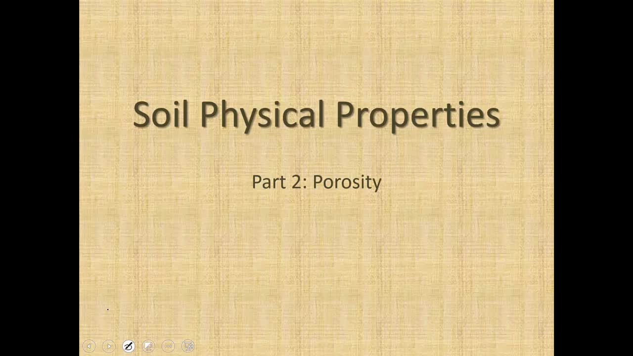Soil Porosity Calculations