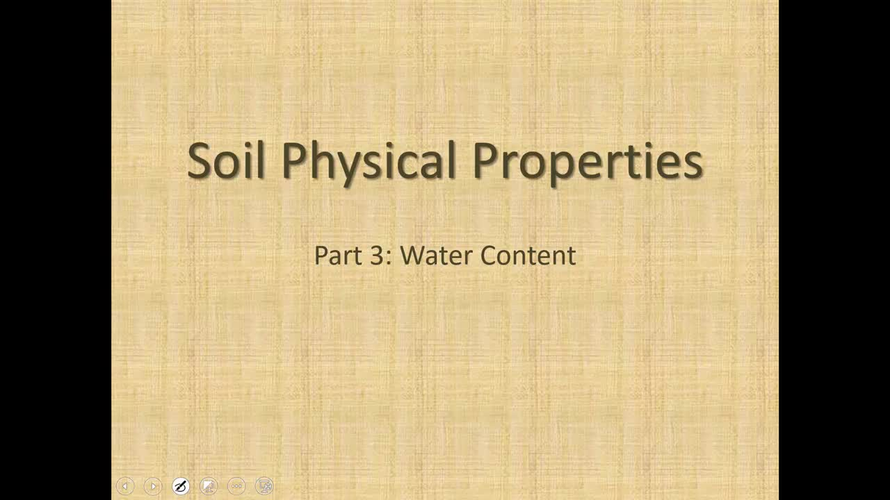 Soil Water Content Calculations