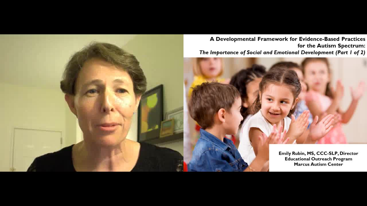 A Developmental Framework for EBP in ASD Part 1