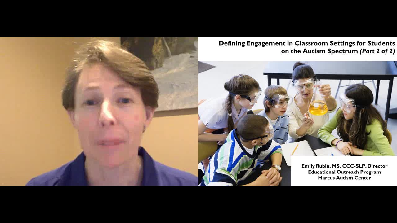Defining Engagement in Classroom Settings for Students on the Autism Spectrum Part 2