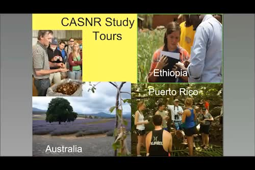 CASNR International Study Tours Department of Agronomy & Horticulture leadership and participation