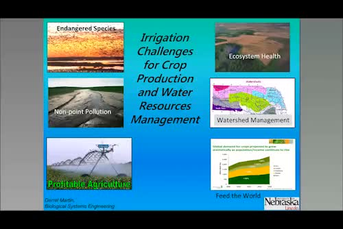 Irrigation challenges for crop production and water resources management