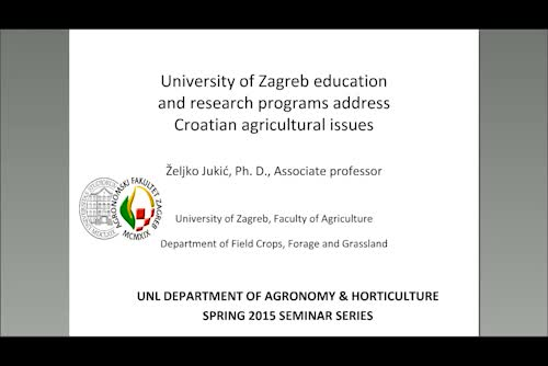 University of Zagreb education and research programs address Croatian agricultural issues
