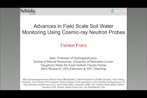 Advances in field scale soil water monitoring using cosmic-ray neutron probes