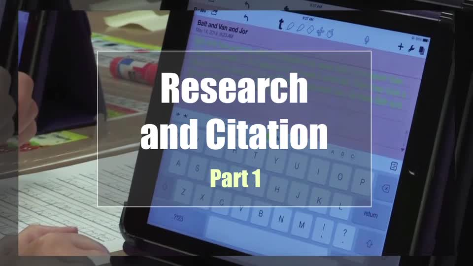 Tech Edge, Mobile Learning In The Classroom - Episode 31, Research and Citation, Part 1