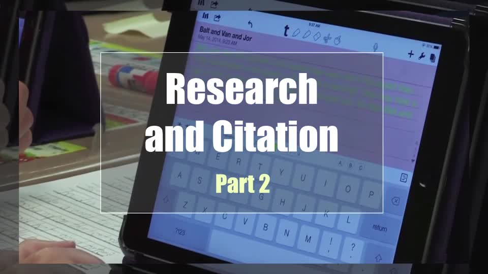 Tech Edge, Mobile Learning In The Classroom - Episode 32, Research and Citation, Part 2