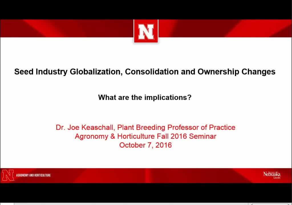 Seed industry globalization, consolidation and ownership changes—what are the implications?