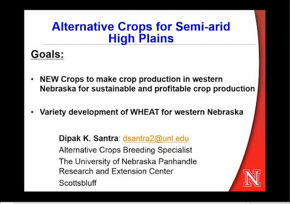Alternative crops for semi-arid High Plains of western Nebraska