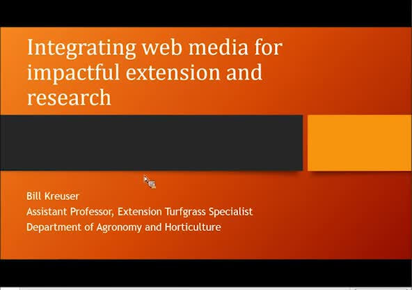 Integrating web media for impactful extension and research