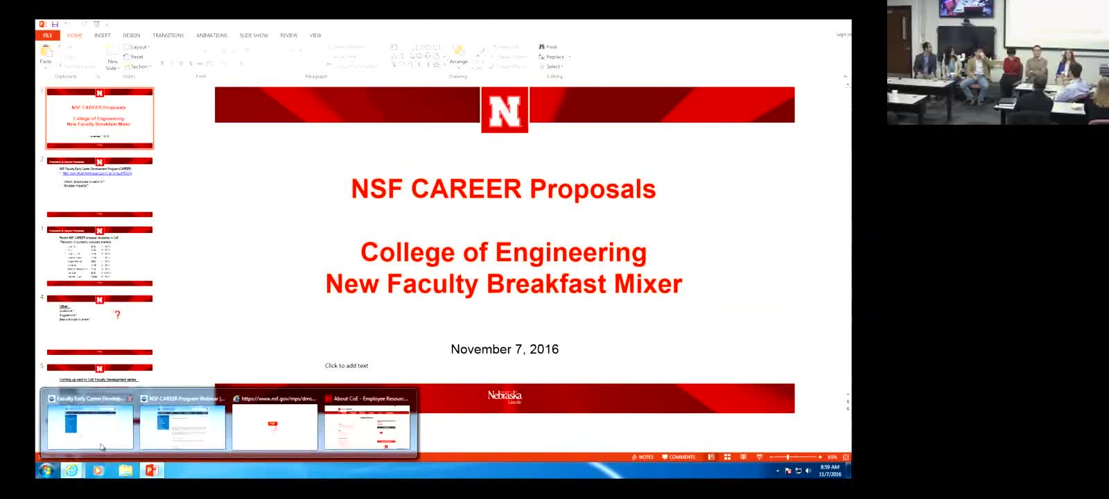 New Faculty Series: CAREER Proposal Panel Discussion