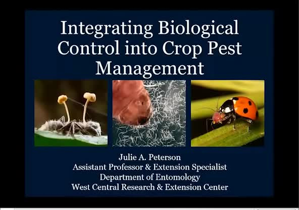 Integrating biological control into crop pest management—a little help from beneficial fungi, nematodes, and ladybeetles