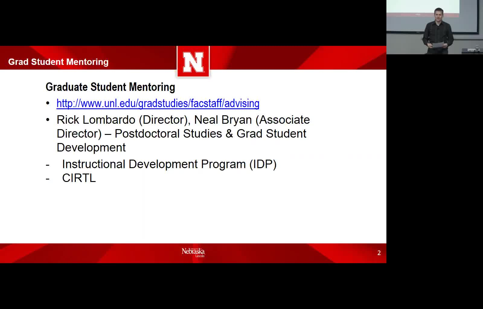 New Faculty Series: Graduate Student Mentoring Resources