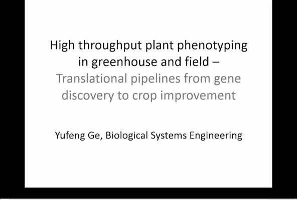 High throughput plant phenotyping in greenhouse and field—translational pipelines from gene discovery to crop improvement