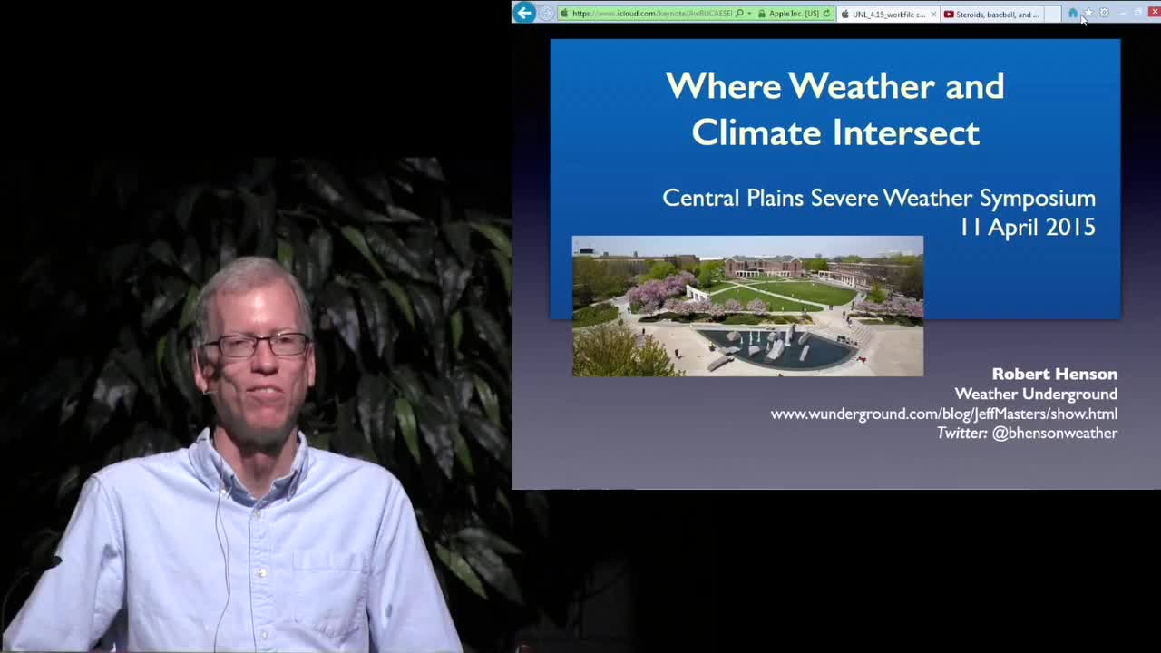 CPSWS 2015 - Where Weather and Climate Intersect