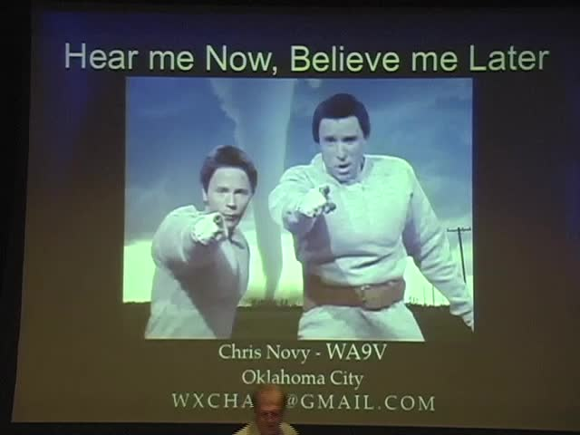 CPSWS 2012 - Hear Me Now, Believe Me Later: Severe Weather Safety