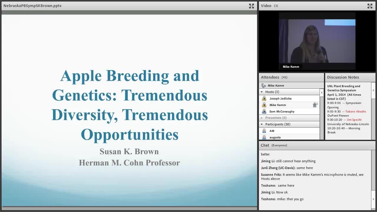 Apple Breeding and Genetics: Tremendous Diversity, Tremendous Opportunities (2014)