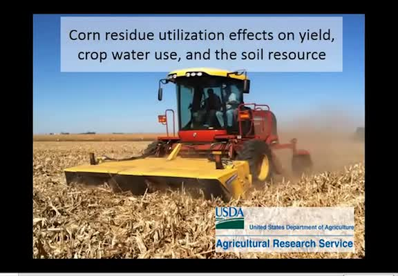 Corn residue utilization effects on yield, crop water use and the soil resource
