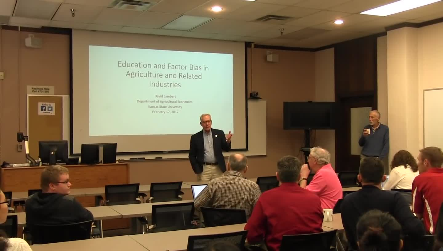 Education and Factor Bias in Agriculture and Related Industries