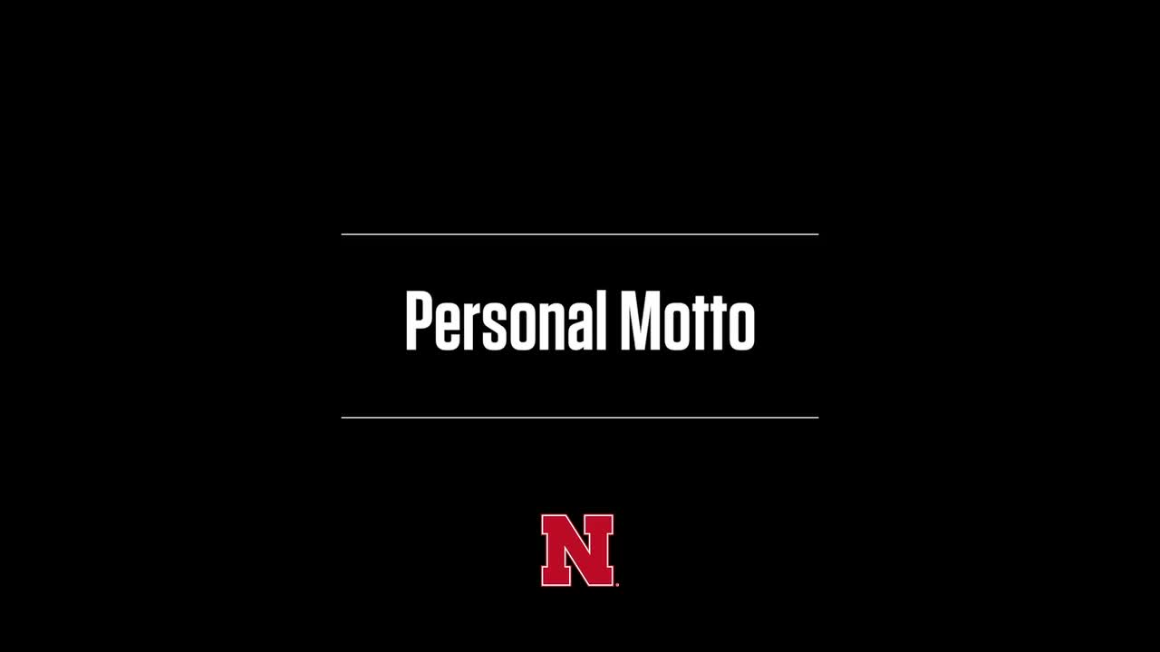 Berger: Personal Motto