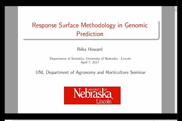 Response surface methodology in genomic prediction