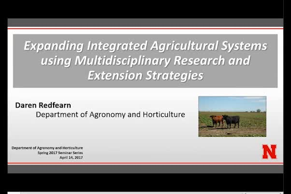 Expanding integrated agricultural systems using multidisciplinary research and extension strategies