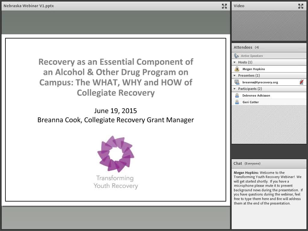 Recovery as an Essential Component of an Alcohol & Other Drug Program on Campus: The WHAT, WHY and HOW of Collegiate Recovery