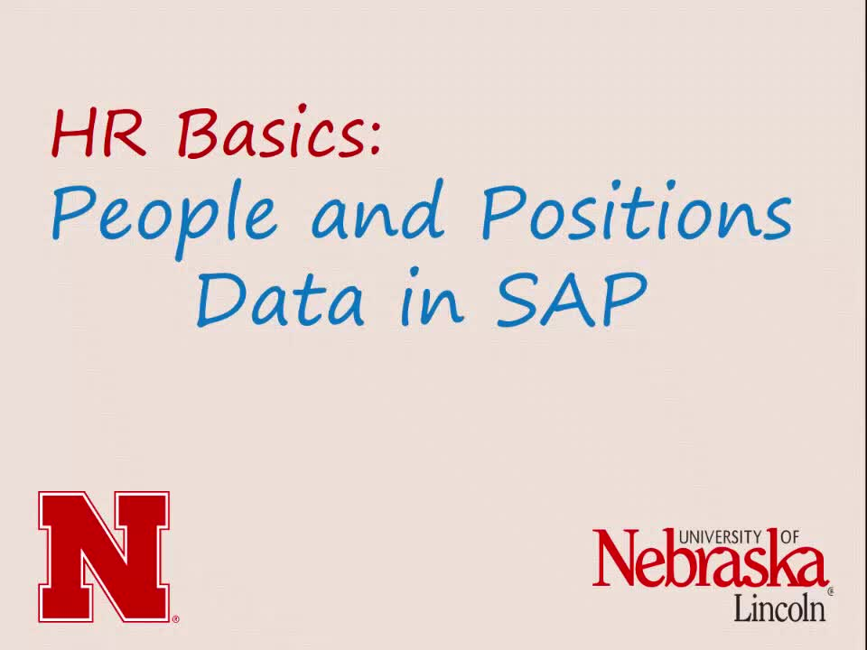 HR Basics: People and Positions Data in SAP (8:55)