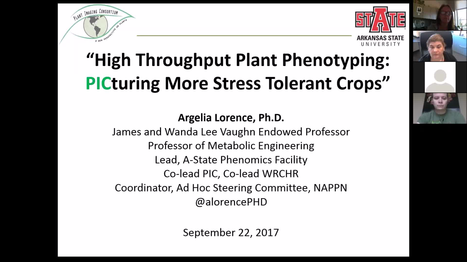 """High throughput plant phenotyping: PICturing more stress tolerant crops"""