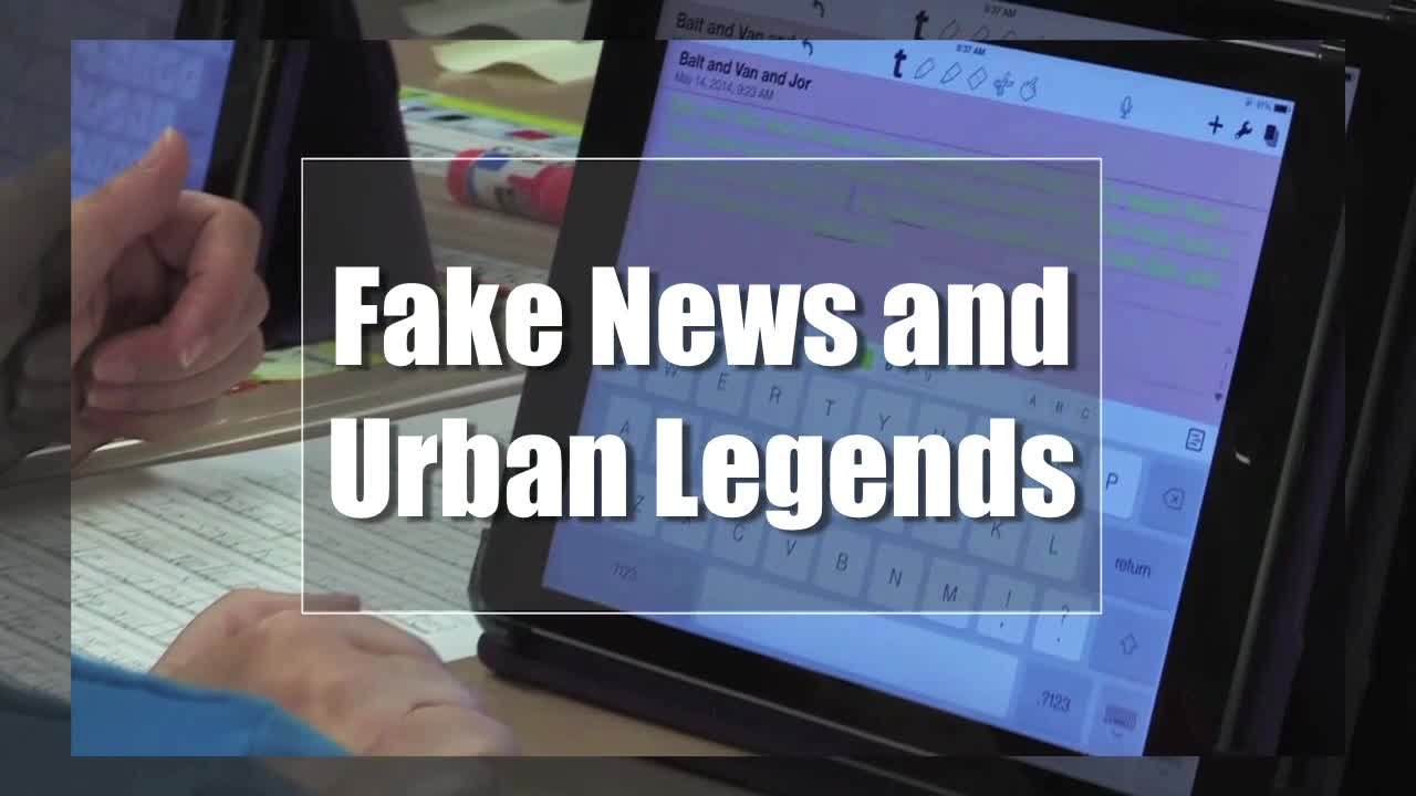 Tech Edge, Mobile Learning In The Classroom - Episode 62, Fake News and Urban Legends
